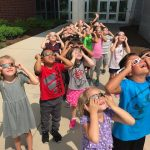 Students Watch Solar Eclipse